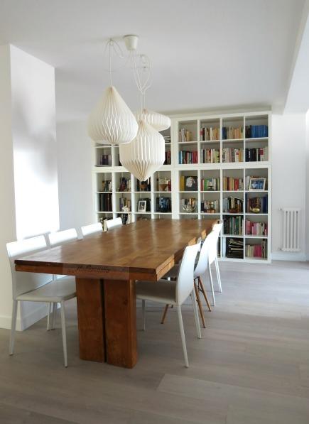 Salón con mesa de grandes dimensiones, Paula Duarte Interiores